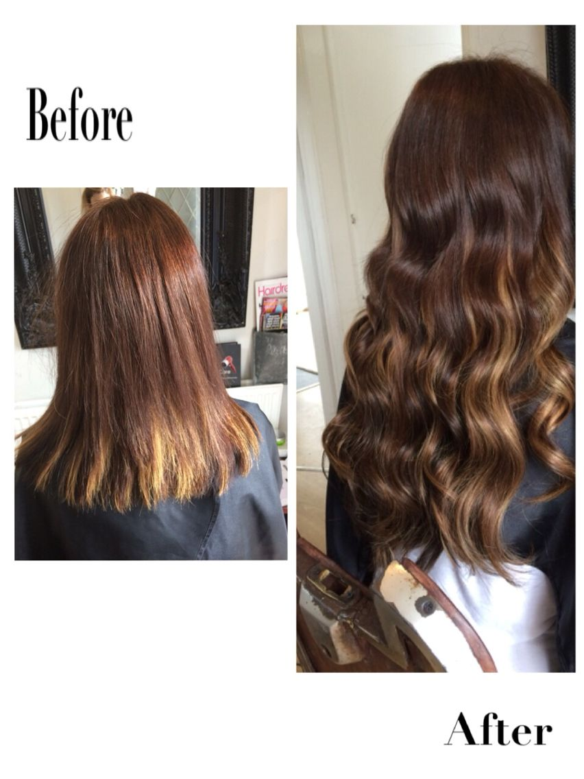 Before And After Bespoke Luxury Beauty Works Hair Extensions Fitted