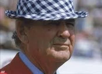 Paul Bear Bryant, best coach in Alabama history and the winningest coach in college football history when he retired. #ROLLTIDE