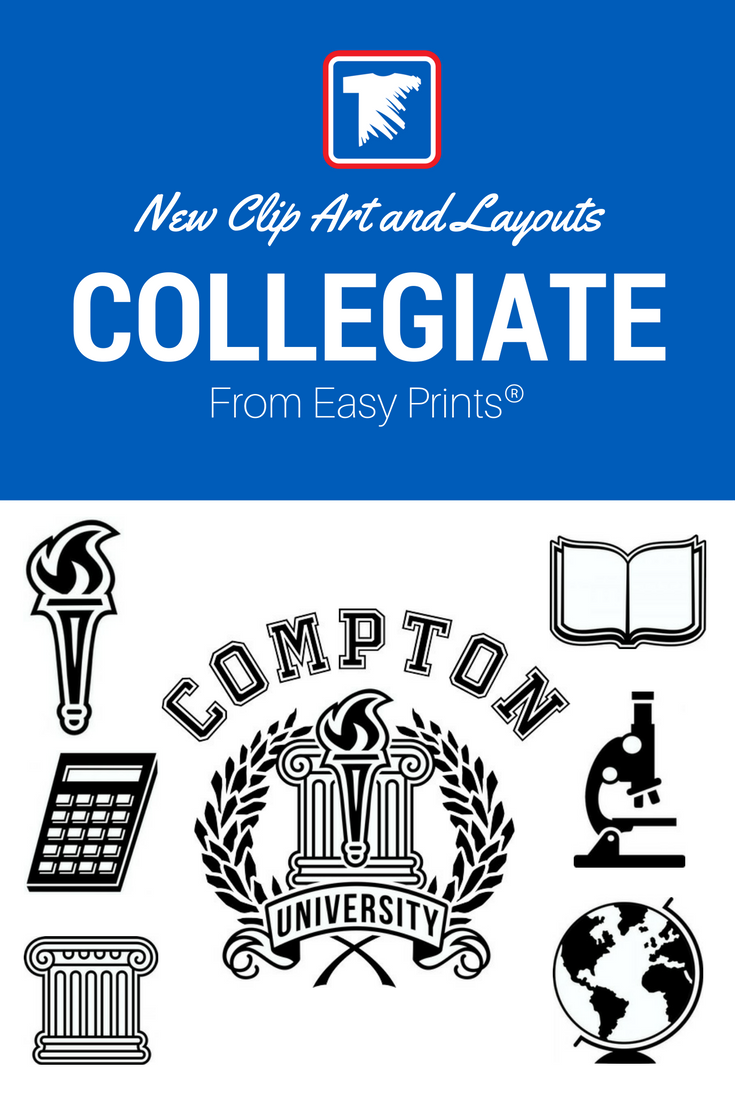 Shirt design transfer - New Collegiate And School Layout And Clip Art For Custom T Shirt Design Transfer Express
