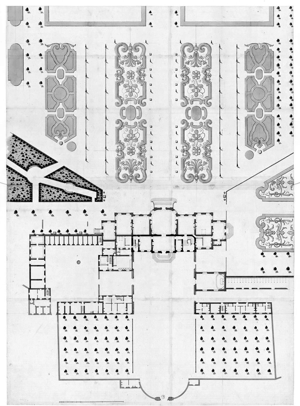 Floor Plan Of The Chateau De La Muette Paris Archimaps Baroque Architecture Vintage House Plans Architecture Mapping