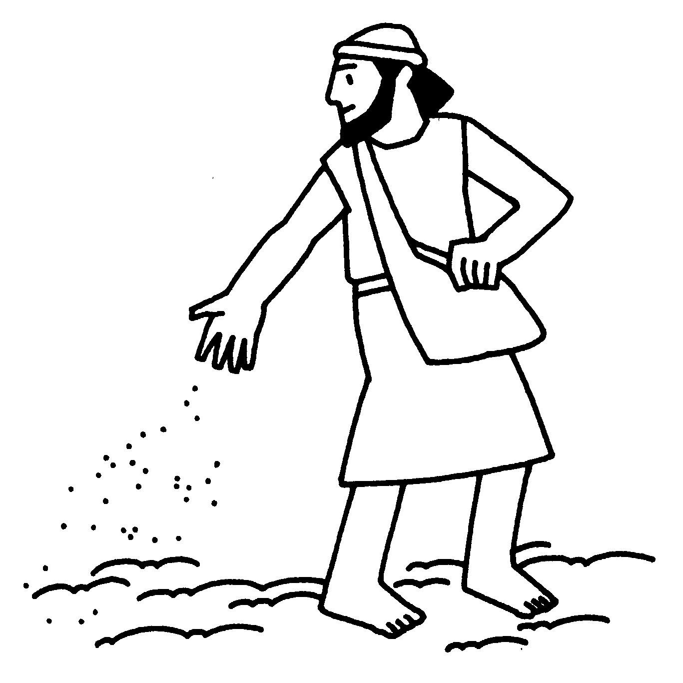 Parables coloring pages, Jesus' parables coloring pages