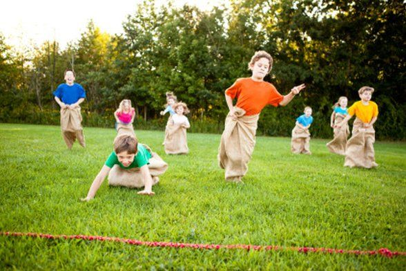 Outdoor Party Games Potato Sack Race