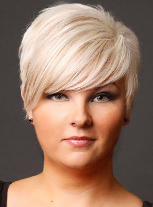 Short Haircuts For Fat Faces And Fine Hair My Style Pinterest