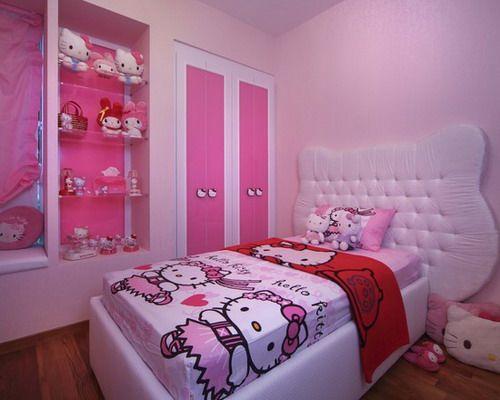cute hello kitty ideas for girl\u0026 s bedroom interior home decor