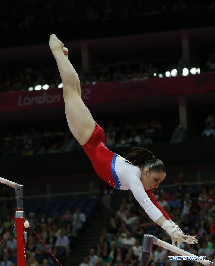 Russian Aliya Mustafina wins gold in womens uneven bars