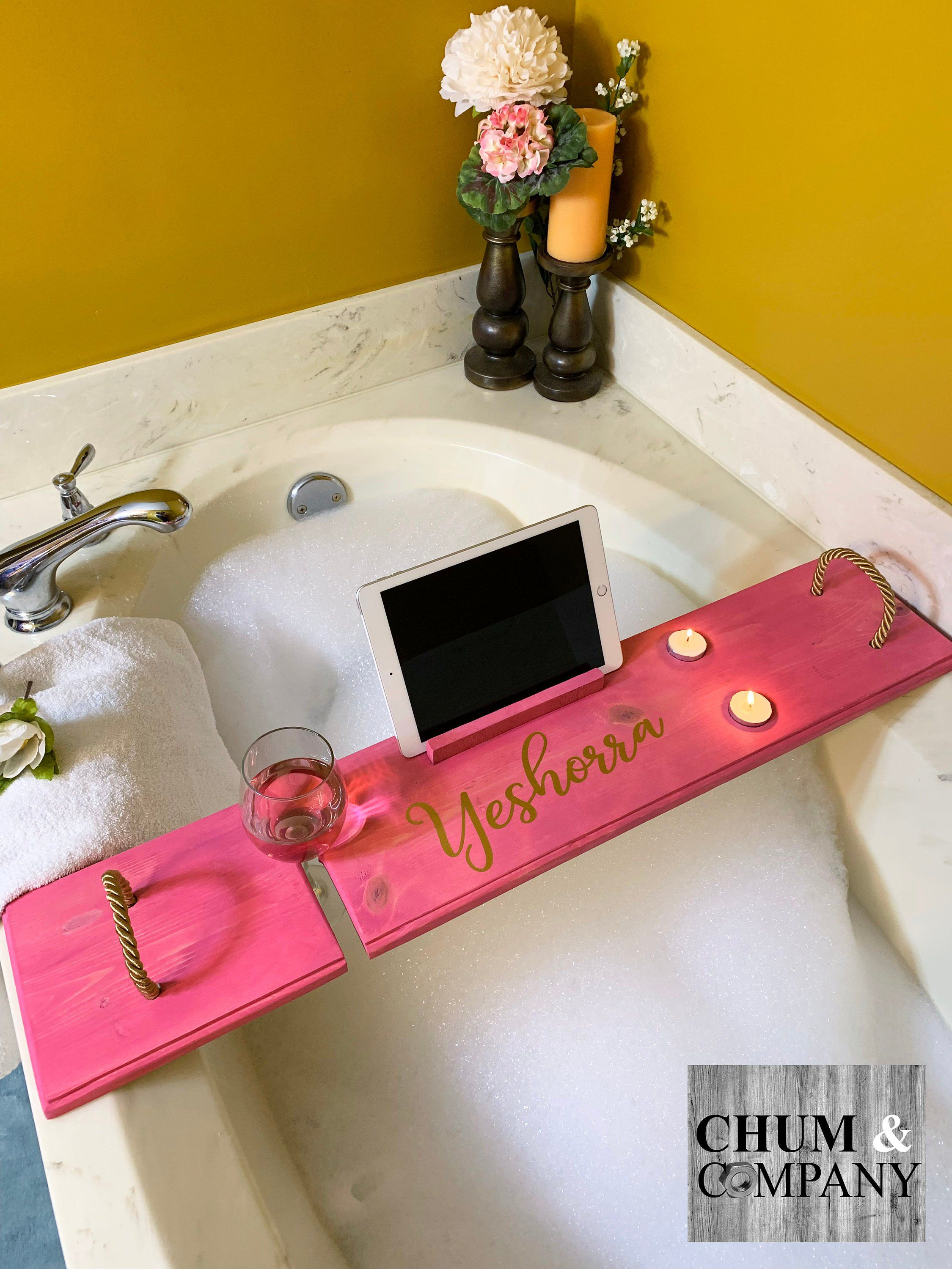 Mother S Day Gifts Personalized Bath Caddy Bath Tray Etsy Bath Tray Bath Caddy Wood Bath