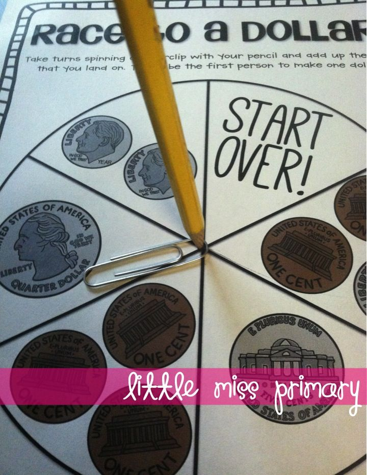 FREE Race to a Dollar Game at Teaching Blog Roundup … | Pinteres…