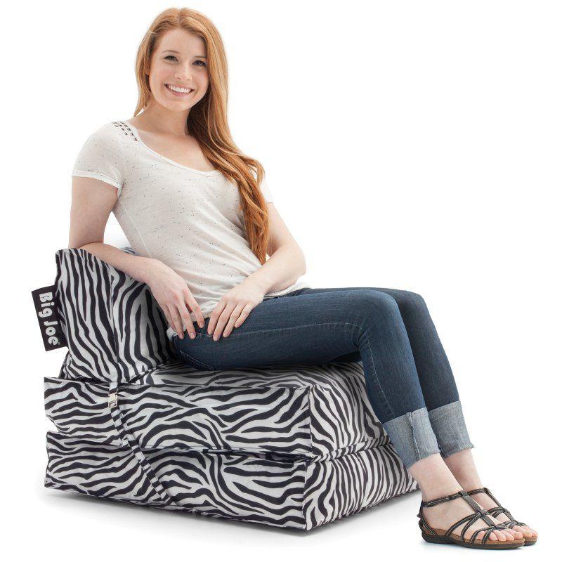 Astounding Big Joe Flip Bean Bag Lounger Zebra Products Bean Bag Frankydiablos Diy Chair Ideas Frankydiabloscom