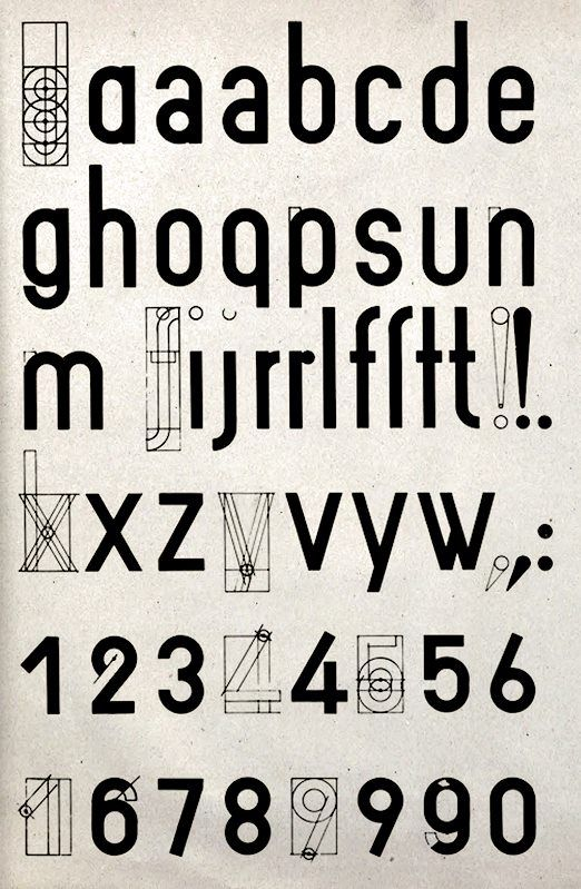 joost schmidt bauhaus searches for ucuniversal typefaceud uppercase u