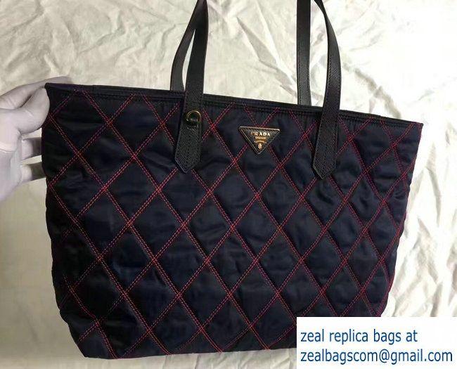 77ddc9690bf2 ... order lyst prada studded nylon messenger bag in black prada quilted  fabric tote bag 1bg085 blue
