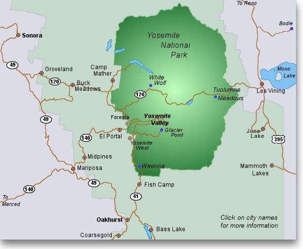 Cartina Yosemite National Park.Yosemite Lodging A Mostly Complete Guide Yosemite National Park Map Yosemite National Park Camping Yosemite National Park