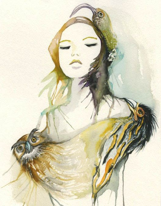 It was inspired by bird # watercolor