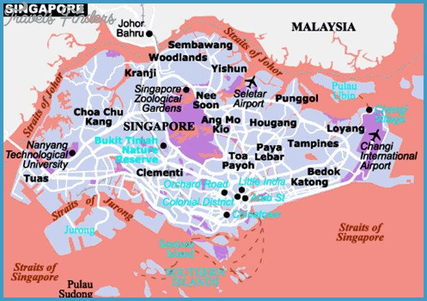 Singapore Map Tourist Attractions Travelsfinders: Singapore Attractions Map At Infoasik.co