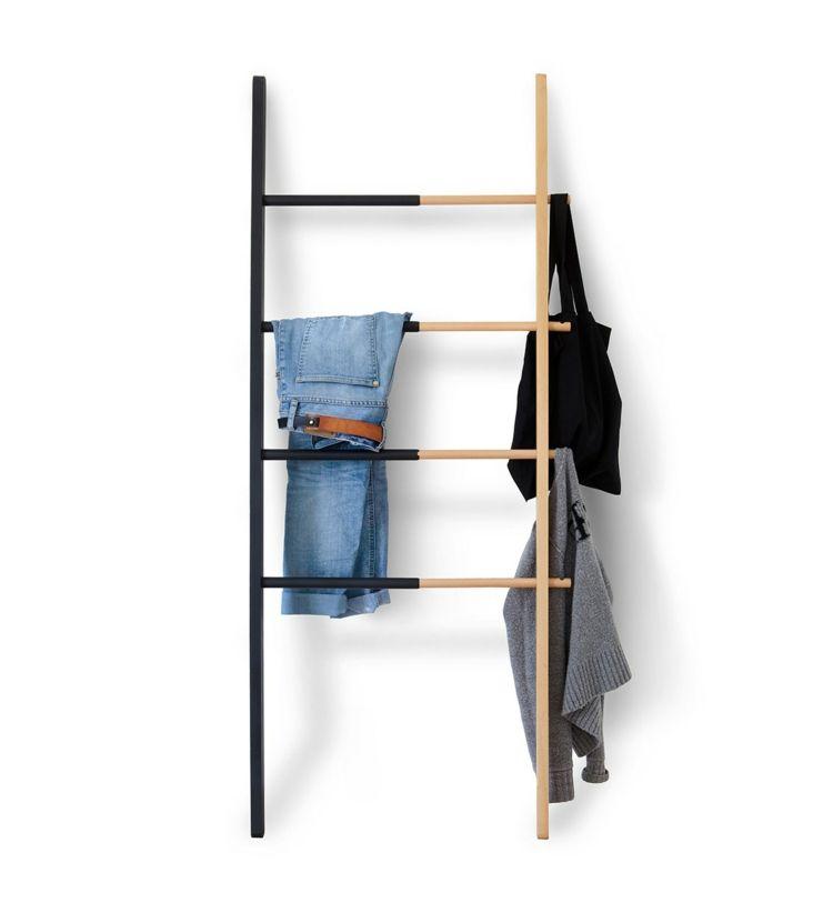 Kleiderablage Im Schlafzimmer Wanddeko-moebel-ideen-leiter