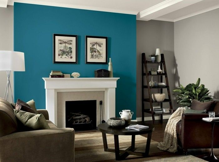 wandfarbe petrol gemütliches wohnzimmer beige Interieur Pinterest - beige wandfarbe