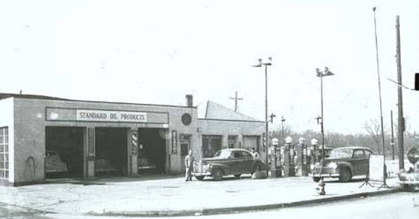 The Reed Service Station 109 N Washington St Marion Indiana Circa 1950 Photo Marion Public Library Historic Colle Marion Indiana Local History Historical