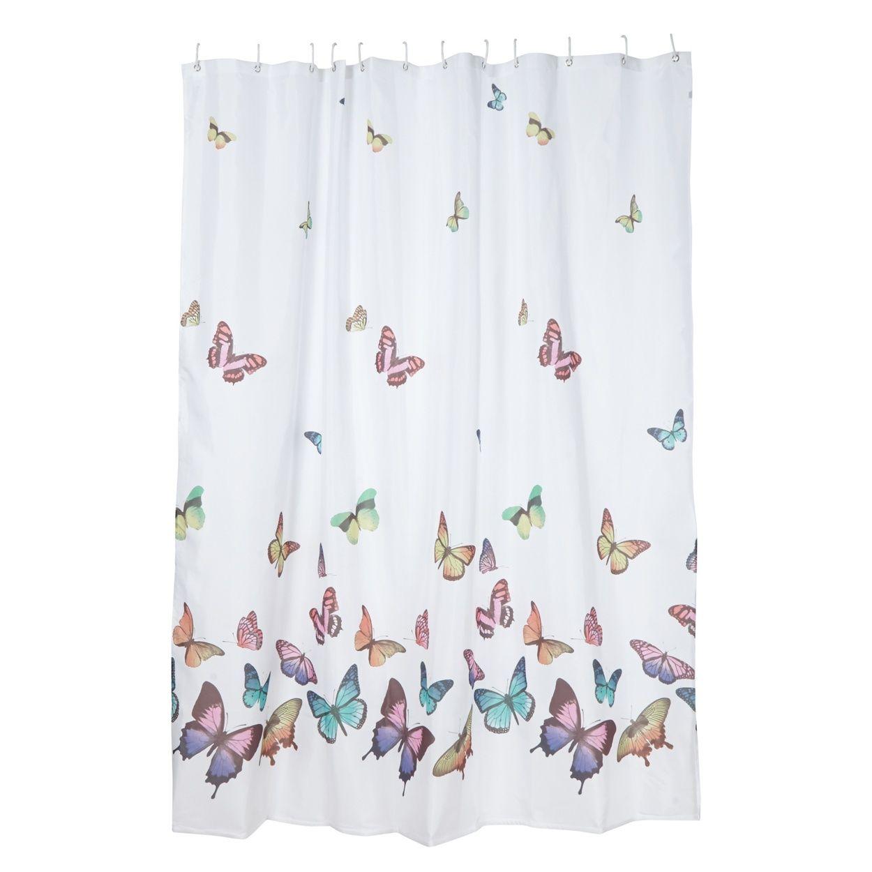 debenhams white butterflies shower curtain at