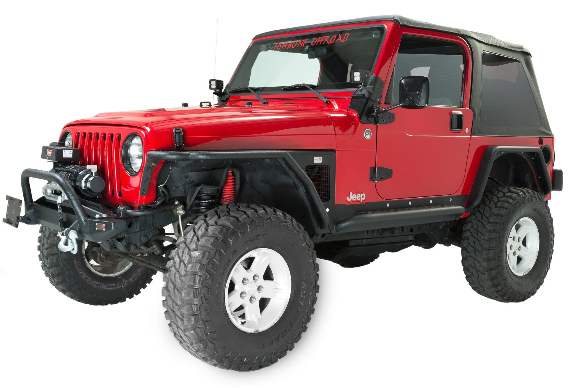 Fishbone Offroad Tube Fenders For 97 06 Jeep Wrangler Tj Jeep Wrangler Tj Jeep Wrangler Diy Wrangler Tj