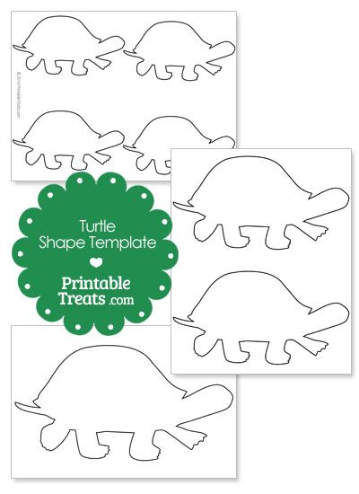 Printable Turtle Shape Template From Printabletreats