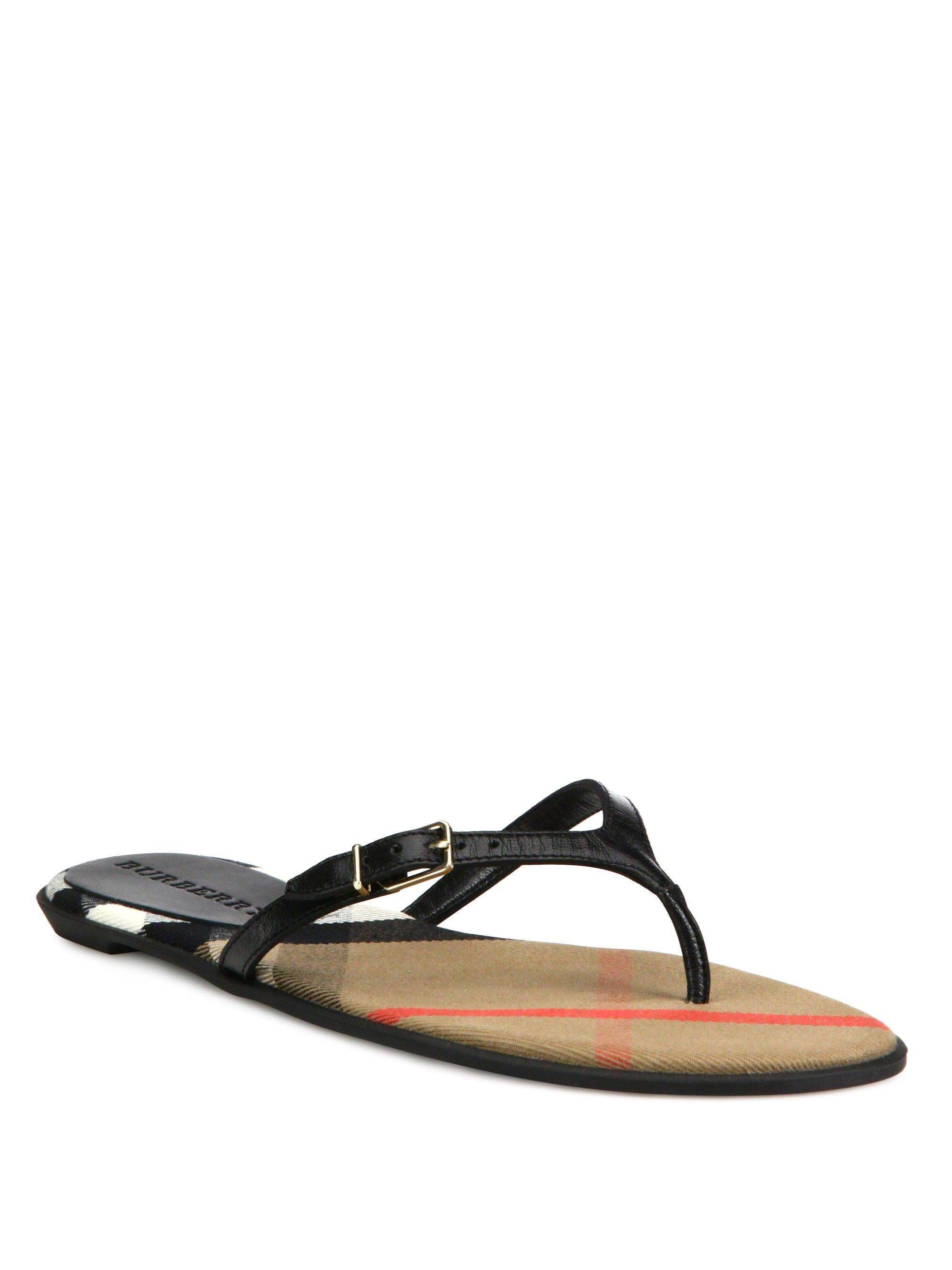 02da09c1f215 BURBERRY Meadow Leather Flip Flops.  burberry  shoes  all Black Slip On  Shoes