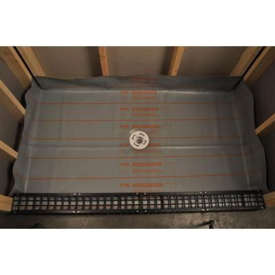 Goof Proof Shower 6 Ft X 5 Ft 40 Mil Vinyl Shower Pan Liner Spl 40 30 With Images Shower Pan Liner Shower Pan Fiberglass Shower Pan