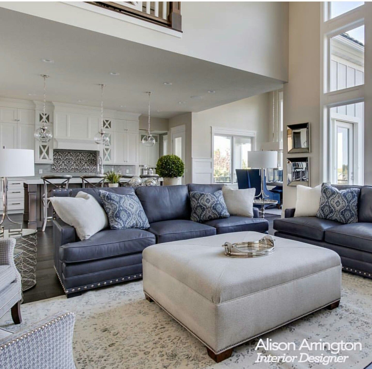 Blues. Living room   Home decor   Pinterest