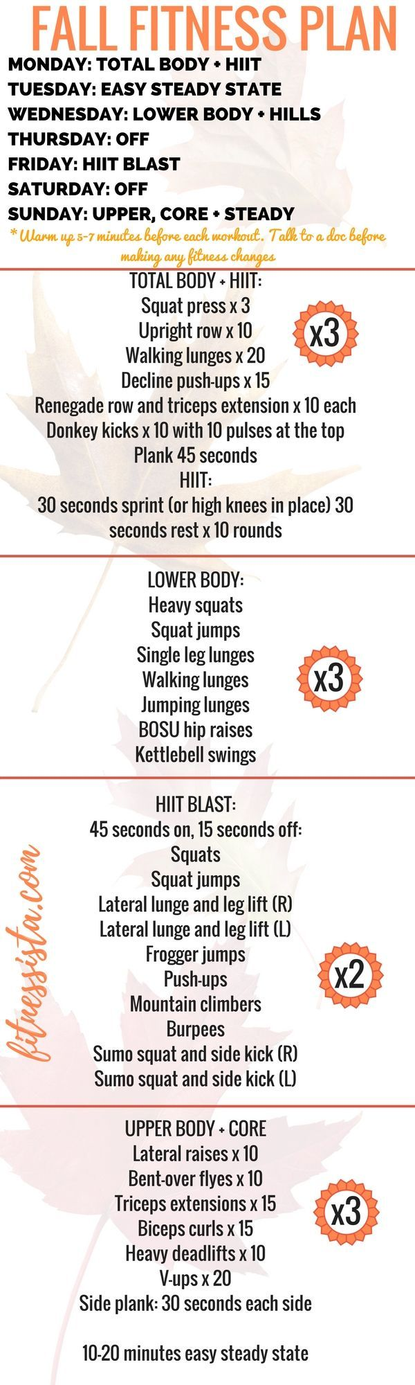 #fitnessista #workouts #workout #fitness #home #plan #fall #free #you #can #at #doFree Fall Fitness...