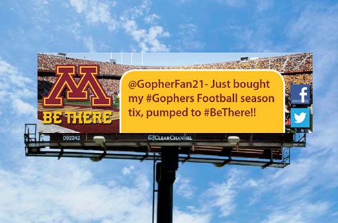 So very cool. Minnesota using user tweets for billboards. You say it, they pub it. Smart. #Twitter #fit2twitt