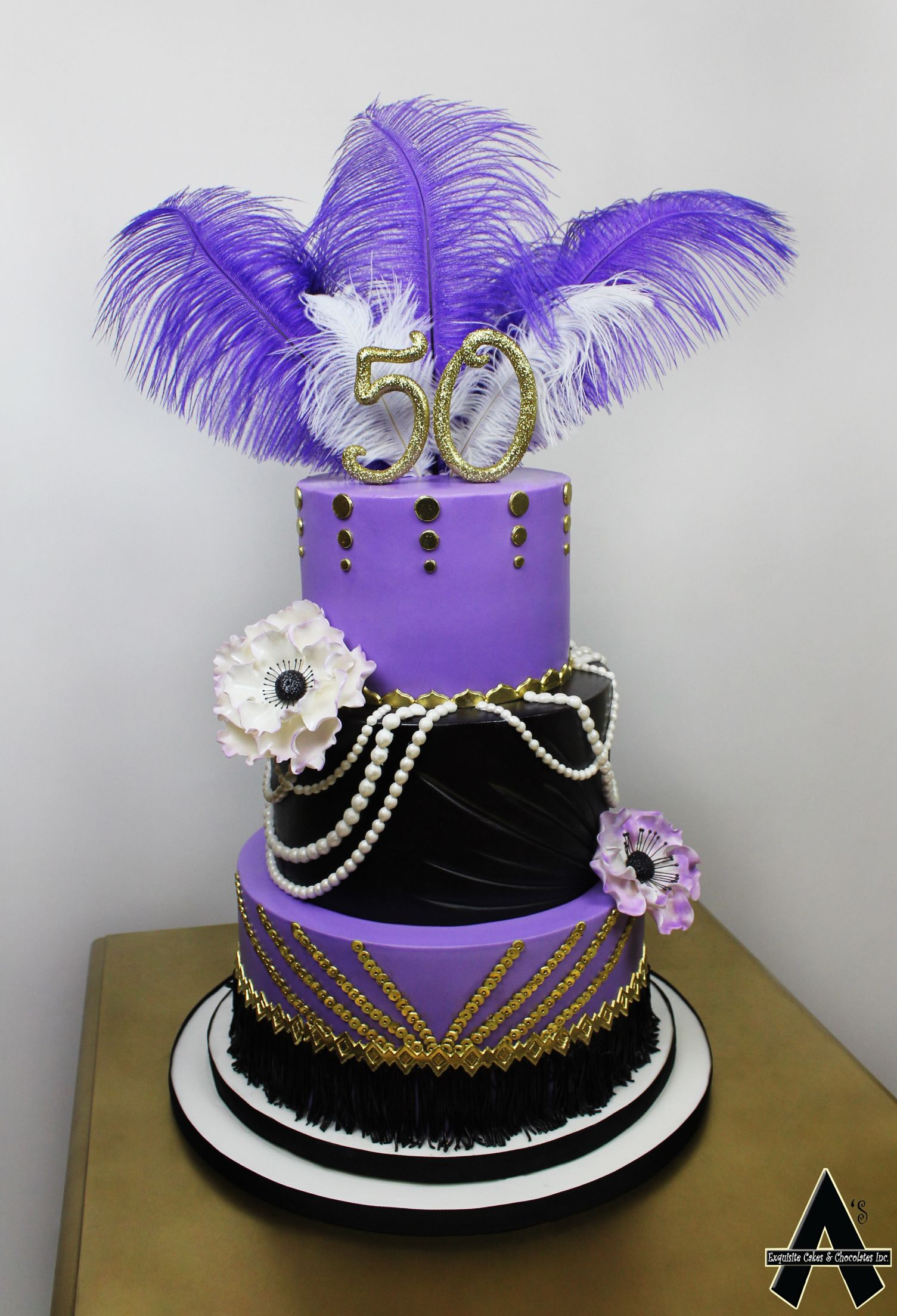 50th birthday cake purple cakes custom wedding cakes