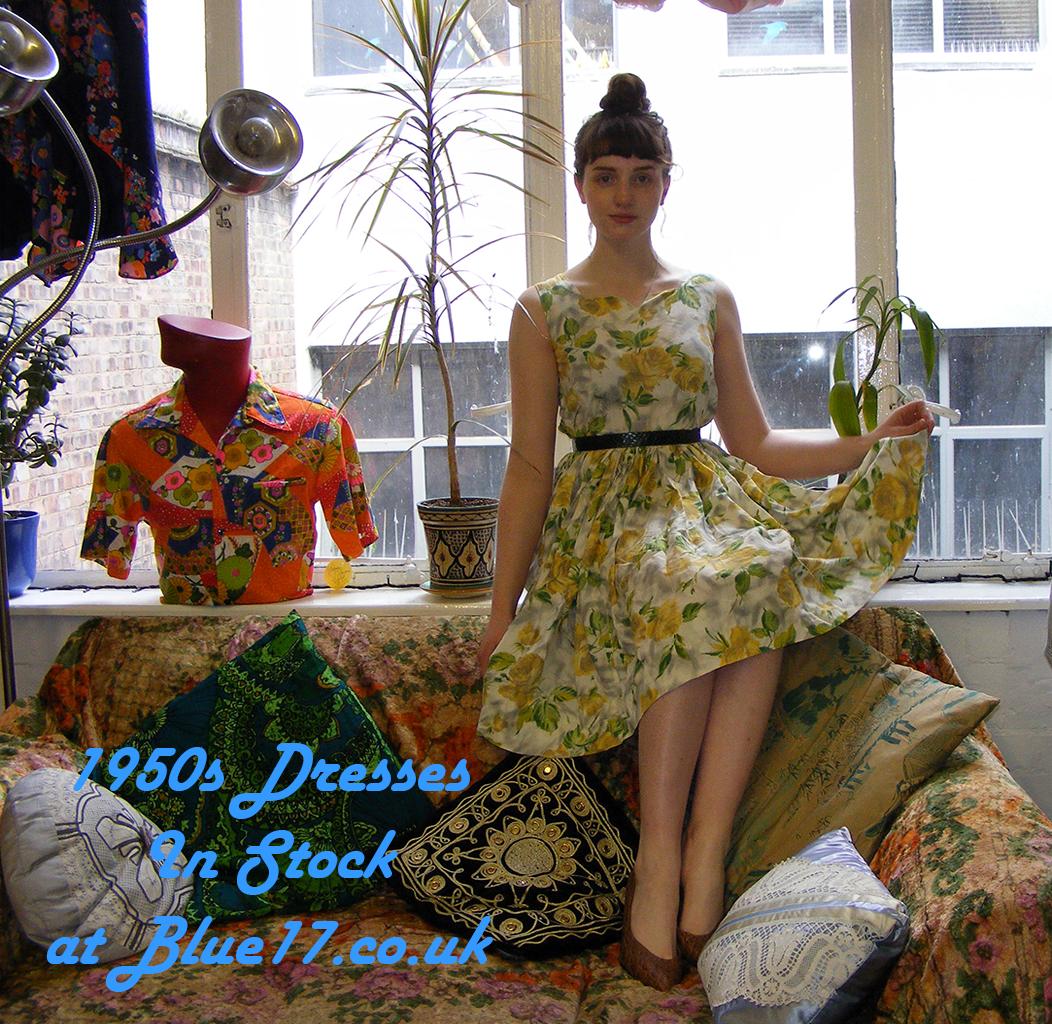Delia Modelling 1950 S Vintage Dress Holloway Vintage Shop 162 Holloway Road 1950 Vintage Dresses Vintage Clothes Shop Vintage Dresses