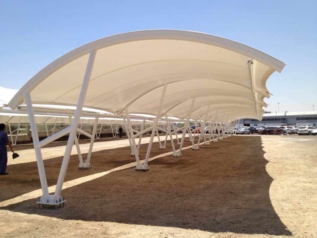ARK car parking shade and canopy manufacturers companies in Delhi Gurgaon Noida Faridabad Ghaziabad Greater Noida & tensile structure covered parking ferrary land abudabi - Recherche ...