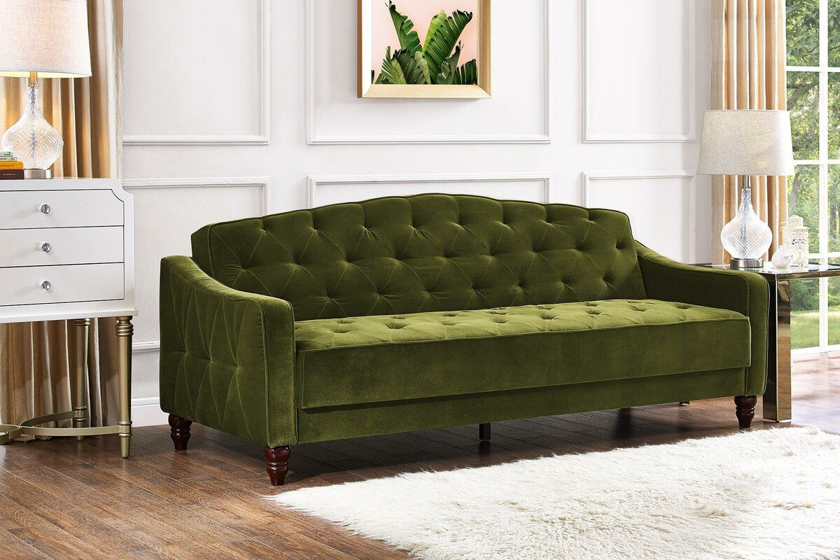 Sensational Vintage Tufted Convertible Sofa My Next Projects In 2019 Theyellowbook Wood Chair Design Ideas Theyellowbookinfo