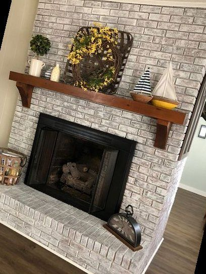 20+ The Top Color Ideas For Painting A Brick Fireplace | Fireplace | 2020