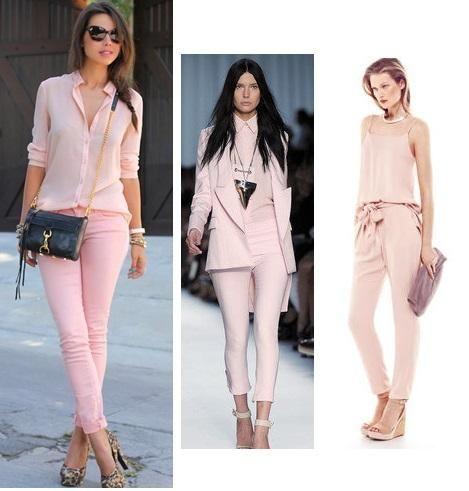 Cómo combinar un pantalón rosa palo  23d1bd88f92