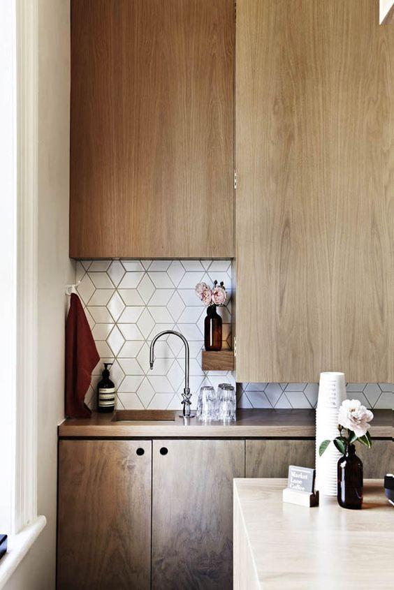 Azulejos 8 ejemplos en gris y blanco para tu cocina Kitchens