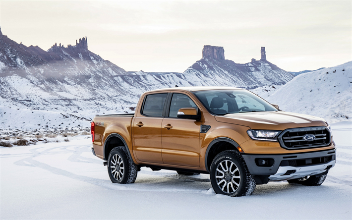 Download Wallpapers Ford Ranger 2019 New Pickup Trucks Suv Bronze Ranger 2019 American Cars Ford Besthqwallpapers Com 2019 Ford Ranger 2020 Ford Ranger Ford Ranger Price