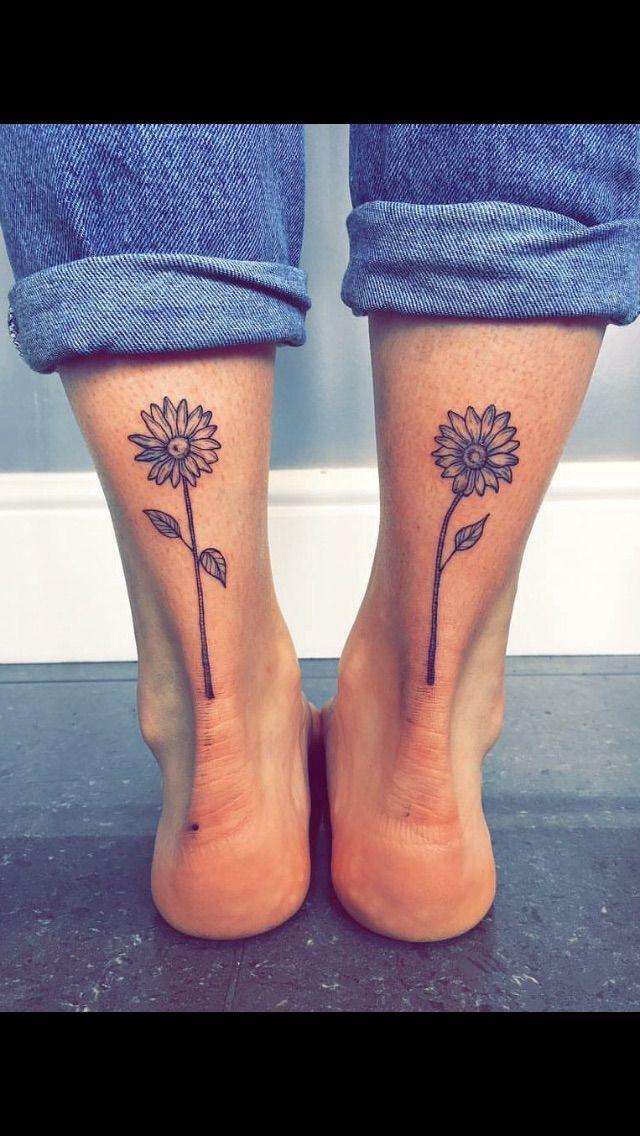 Photo of sunflower tattoo