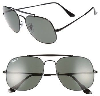 c56941eadc Ray-Ban The General 57mm Polarized Sunglasses
