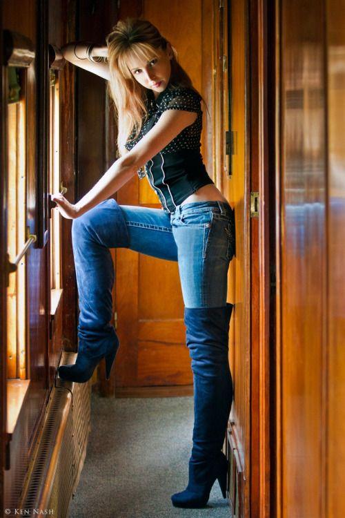 adult denim boots brutal