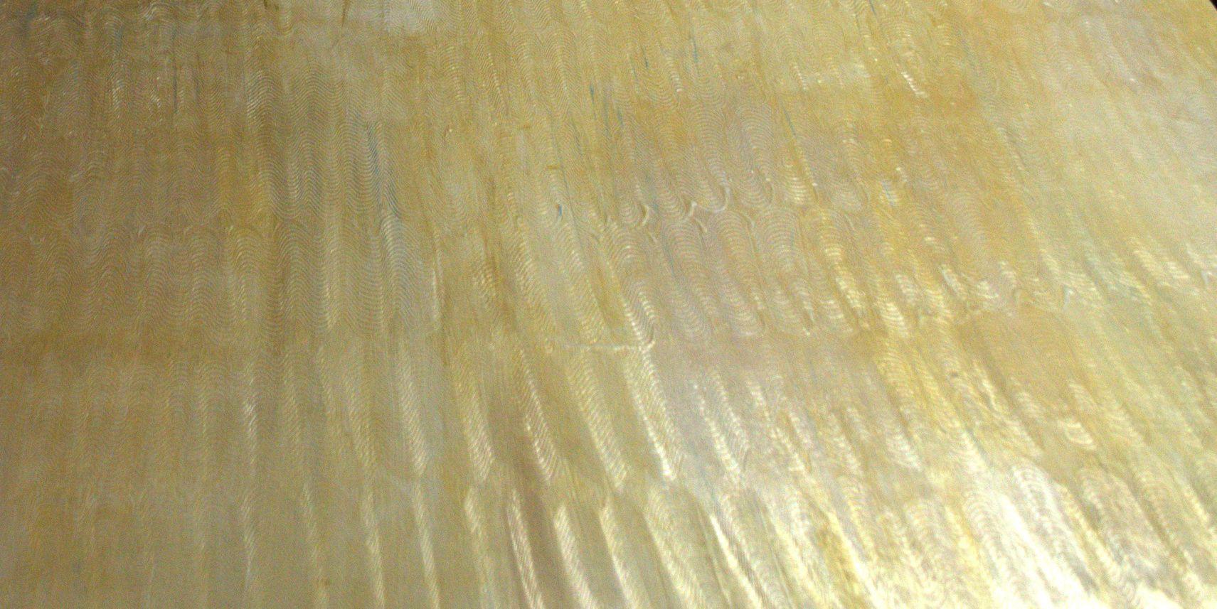 Wall glazing. Textured first, Bronze Martha Stewart paint thinly ...