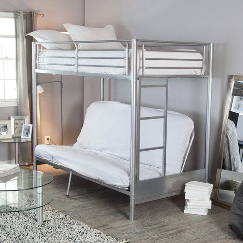 Duro Wesley Twin Over Futon Bunk Bed Silver For The Home