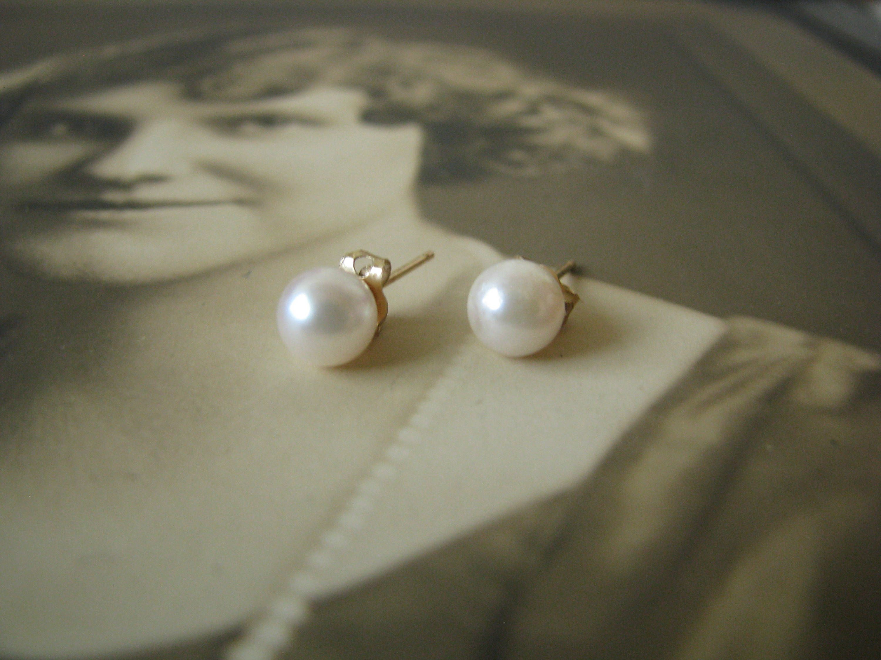 yellow all studs cultured products store white earrings gold pearl freshwater coin shop stud