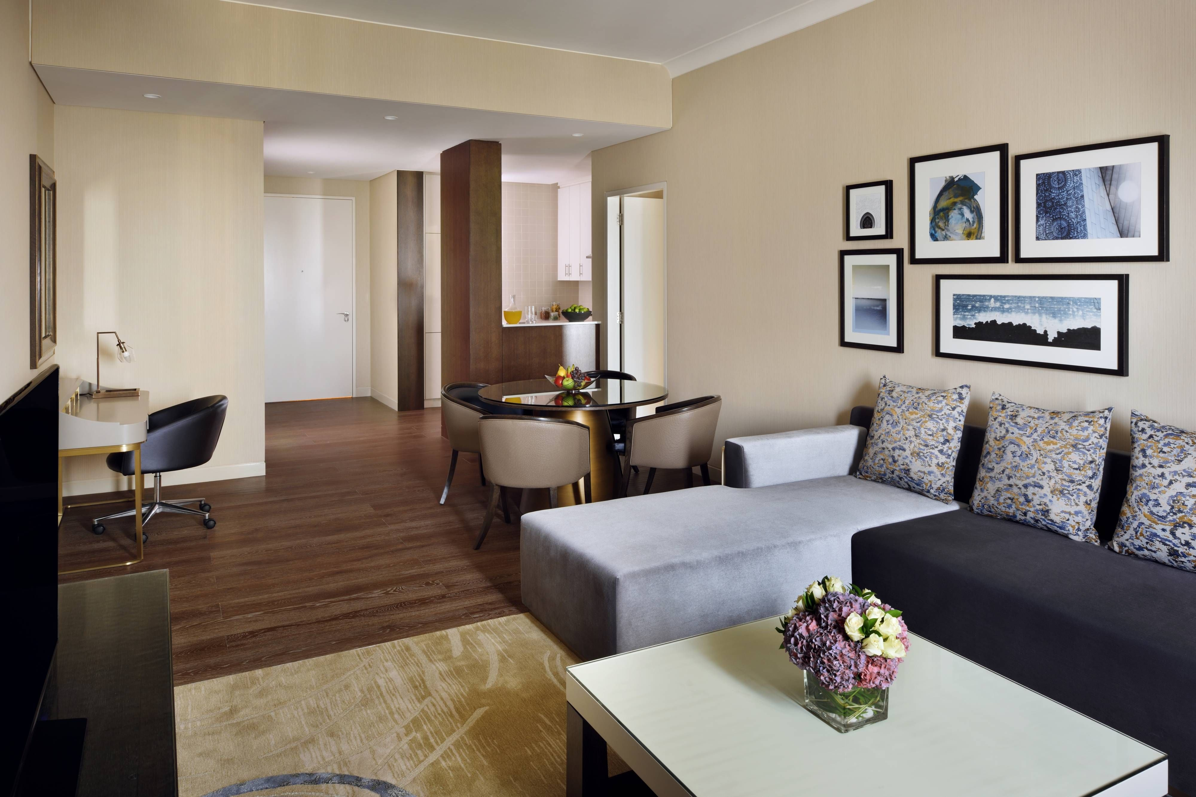 Marriott Executive Apartments Downtown Abu Dhabi One Bedroom Apartment Living Area Relax Holiday Downtown Apartment One Bedroom Apartment Apartment Living