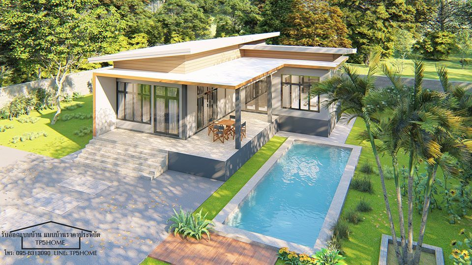 10 Beautiful Single Story Houses With 3 Bedrooms With Floor Plan And Budget Estimate Affordable House Design Modern House Facades Modern Bungalow House