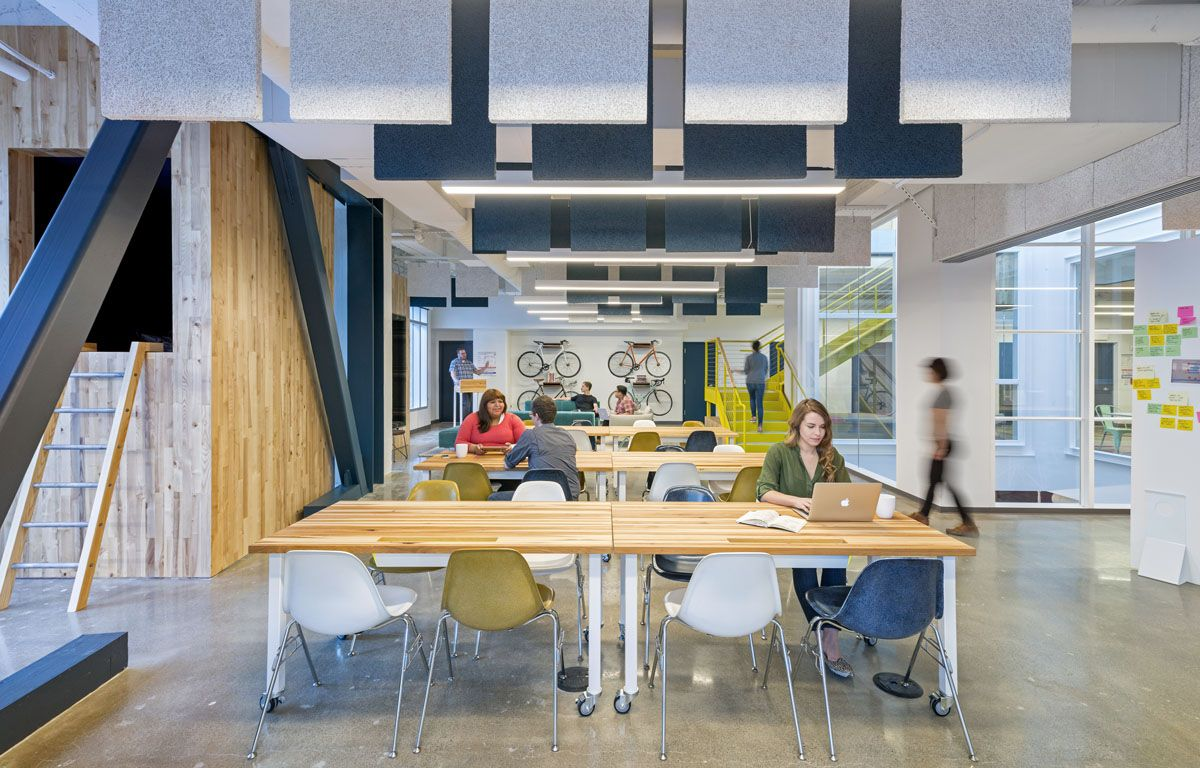TECTUM CEILING PANELS FOR SOUND BARRIERS IN OPEN OFFICES Noises Off    Metropolis Magazine   April