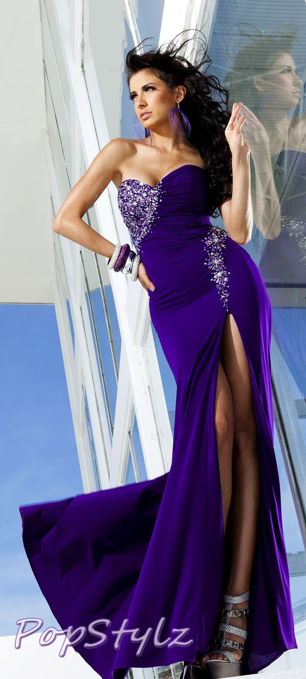 Tony Bowls Purple Dress | dresses | Pinterest | Vestido de gala ...
