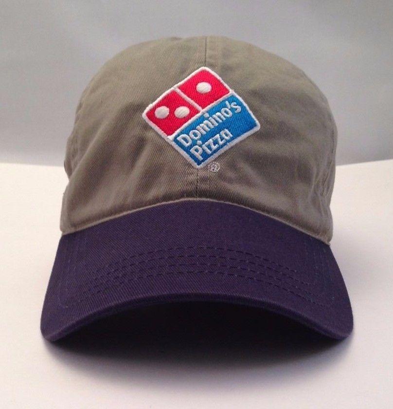 Dominos Uniform Work Original Genuine Cap Hat One size Gray Blue   DominosPizza  BaseballCap 1a4e1d35ceb0