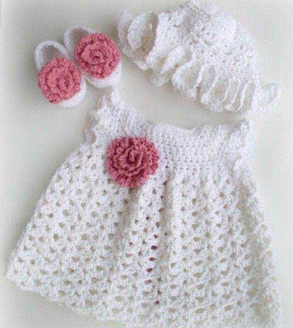 Crochet Baby Dresses | Crochet Baby Dresses | Pinterest | Vestido de ...