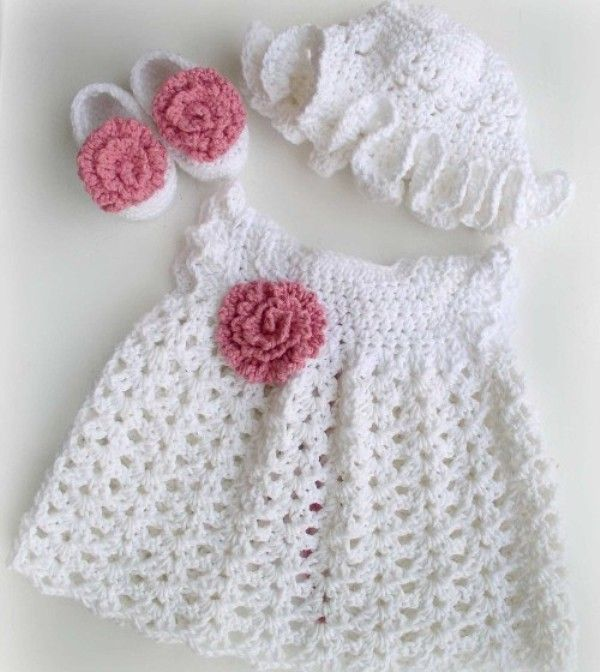 Crochet Baby Dresses | baby things | Pinterest | Tejido, Vestido de ...