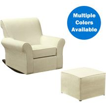 Walmart: Customize - Dorel Rocking Chair with Ottoman (Choose your Slipcover) $296